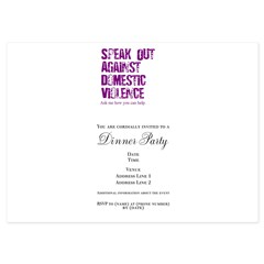 Purple Speak Out! 5x7 Flat Cards