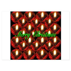 Twenty-six Memorial Rose Christmas Candles 5x7 Flat Cards