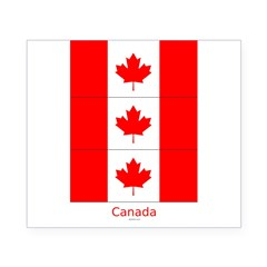 Flag of Canada Stickers 3pc Beer Label
