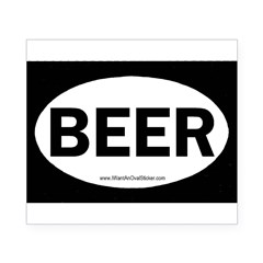 BEER Oval Beer Label