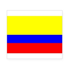 Colombia Flag Rectangle Beer Label