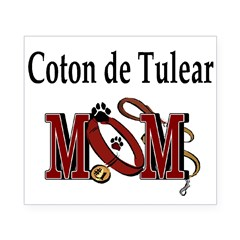 Coton de Tulear Mom Rectangle Beer Label