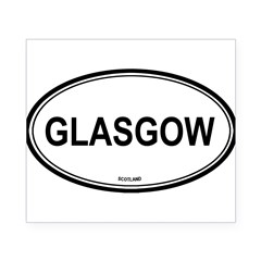 Glasgow, Scotland euro Oval Beer Label