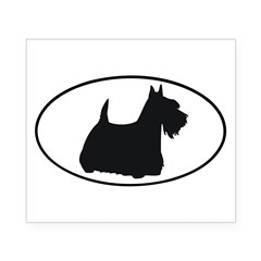 Scottish Terrier Oval Beer Label