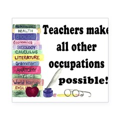 """Teacher Occupations"" Rectangle Beer Label"