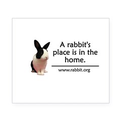 A rabbits place is in the hom Oval Beer Label
