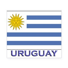 Uruguay Flag Gear Rectangle Beer Label