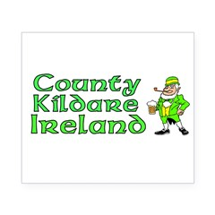 County Kildare, Ireland Rectangle Beer Label