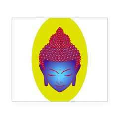 purple buddha Oval Beer Label