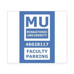 Miskatonic University Parking Pass (Faculty) Beer Label