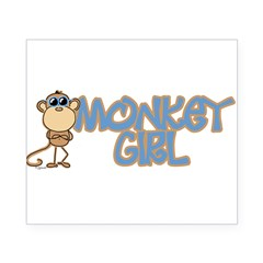 Monkey Girl Oval Beer Label