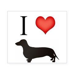 doxie love Rectangle Beer Label