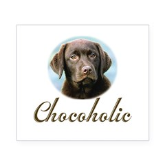 Chocoholic Rectangle Beer Label