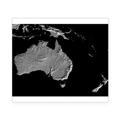 Australia Relief Map Rectangle Beer Label