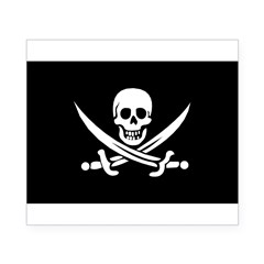 Old Jolly Roger Pirate Flag Beer Label