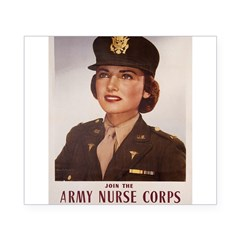 Army Nurse Corps Rectangle Beer Label