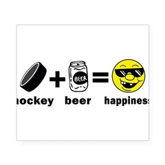 Funny Hockey Rectangle Beer Label