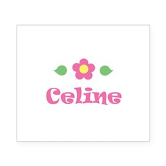 "Pink Daisy - ""Celine"" Rectangle Beer Label"