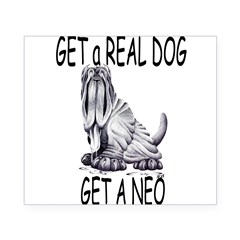 Get a Real Dog ~ Get a Neo Rectangle Beer Label