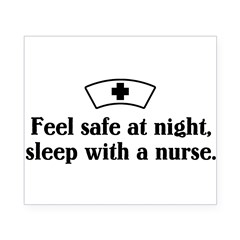 Feel safe at night, sleep with a nurse. Beer Label