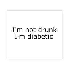 Diabetic Info Rectangle Beer Label