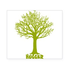 TREE hugger (lime) Rectangle Beer Label