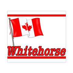 Canada Flag - Whitehorse Rectangle Beer Label
