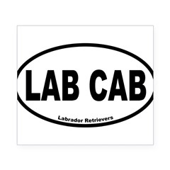Lab Cab Oval Beer Label