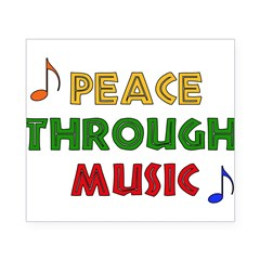 Peace Through Music Rectangle Beer Label