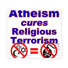 Atheism Cures Terrorism Rectangle Beer Label