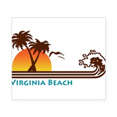 Virginia Beach Rectangle Beer Label