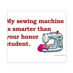 Sewing Machine/Honor Student Rectangle Beer Label