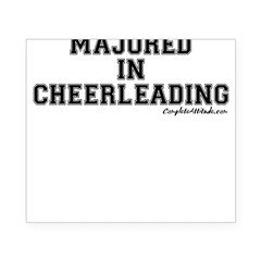 Majored In Cheerleading Beer Label