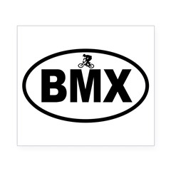 BMX Rider Oval Beer Label