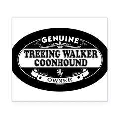 TREEING WALKER COONHOUND Oval Beer Label