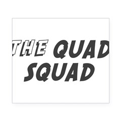 THE QUAD SQUAD Rectangle Beer Label
