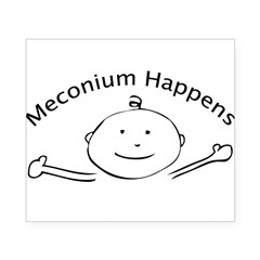 Meconium Happens Oval Beer Label