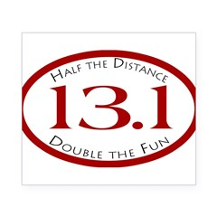13.1 - Half the Distance Oval Beer Label