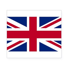 Union Jack Rectangle Beer Label