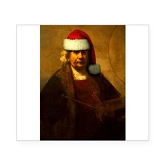 Rembrandt Santa Rectangle Beer Label