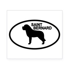 Saint Bernard Oval Beer Label