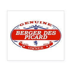 BERGER DES PICARD Oval Beer Label