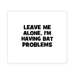 leave me alone, I'm having ba Sticker (Rectangular Beer Label