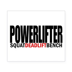 POWERLIFTER Rectangle Beer Label