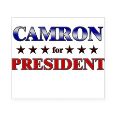 CAMRON for president Rectangle Beer Label