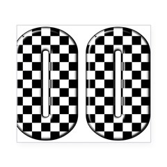 Race Car #00 Rectangle Beer Label