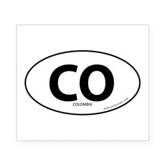 Colombia country bumper sticker -White (Oval) Beer Label