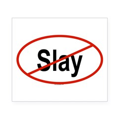 SLAY Oval Beer Label