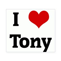 I Love Tony Rectangle Beer Label