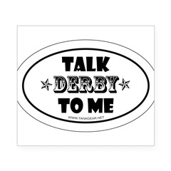 Talk Derby To Me 2 Oval Beer Label